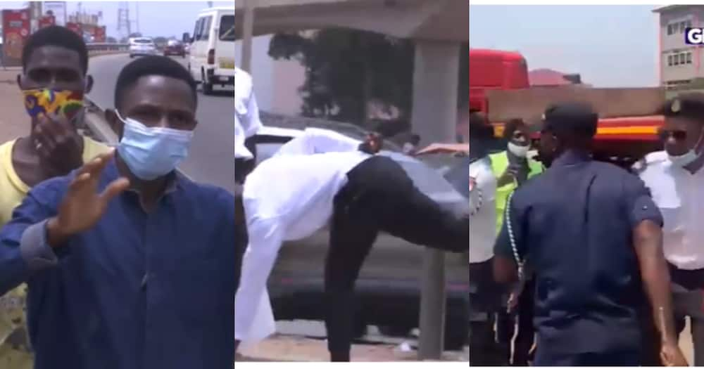 City guards mercilessly lash pedestrians for failing to use footbridge at Madina in new video
