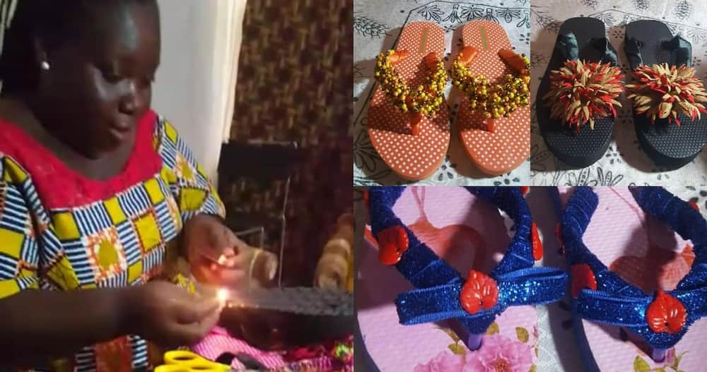 Sarah Obeng Amoako: Meet lady Living with Autism who Makes Beautiful Slippers