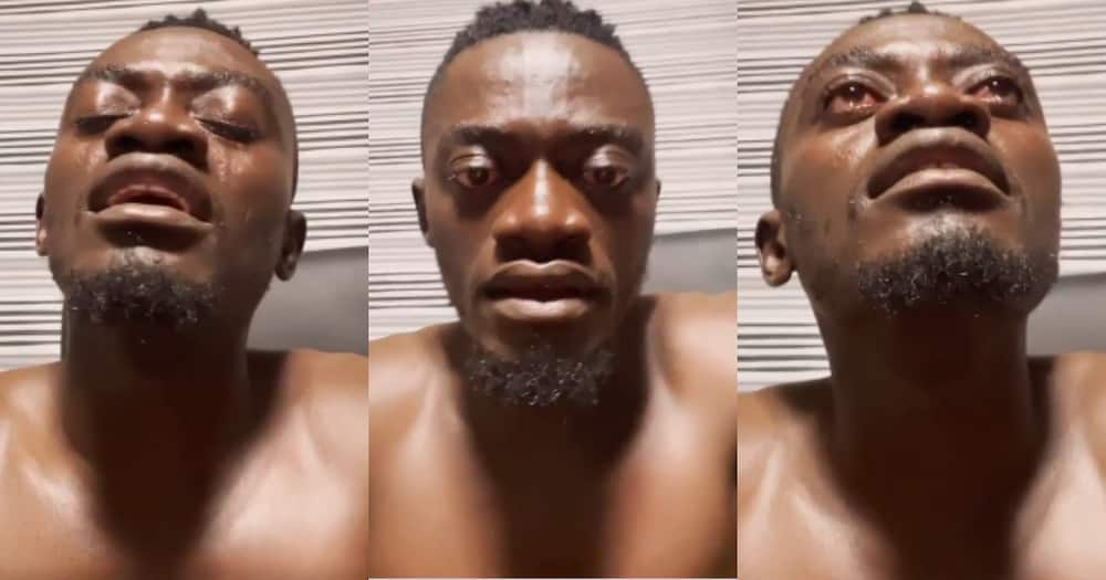 Lil Win: Actor Weeps Bitterly in new Video; fans all over him