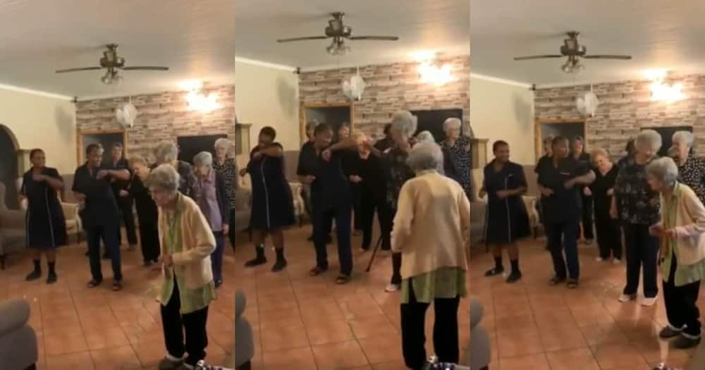 Elderly ladies from local old age home enjoying the Jerusalema dance challenge.