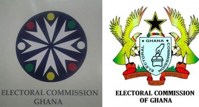 The new logo and old logo of EC