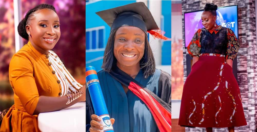 Naa Ashorkor earns master's degree in Public Relations, drops no-makeup photo in graduation robe