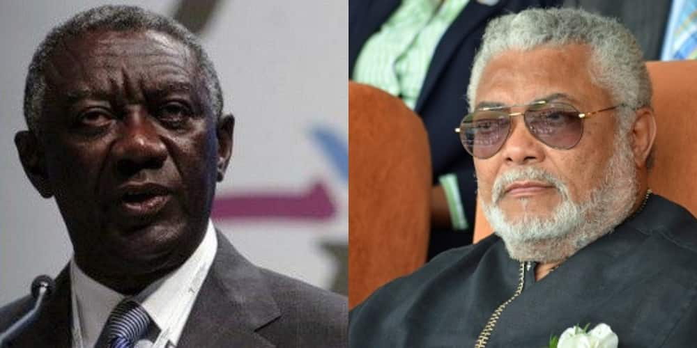Former president Kufuor reacts to the death of JJ Rawlings