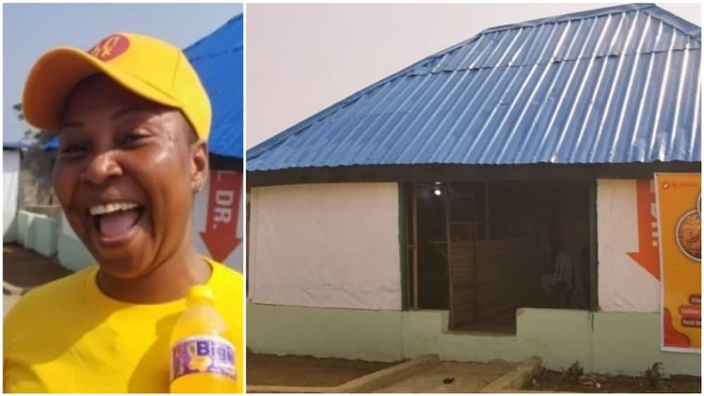 Nigerian man melts hearts as he surprises mother by opening new restaurant for her