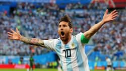 Messi says his prayers of thanks to God after Argentina made it through to the second round