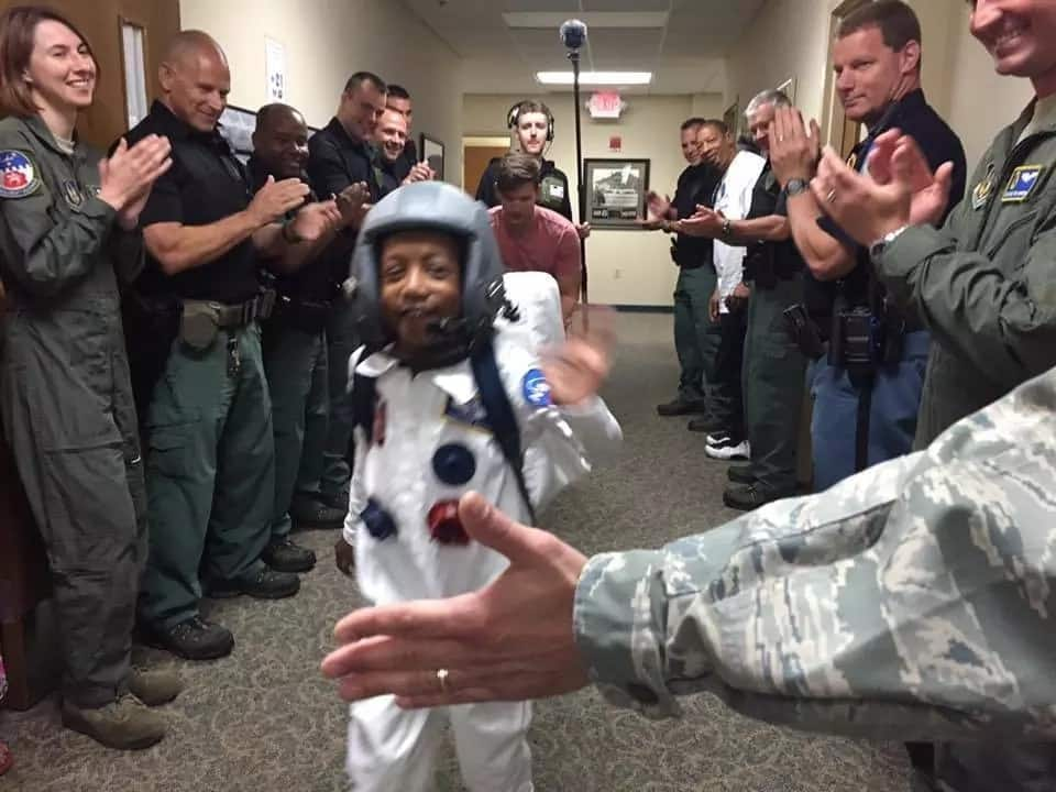 "Brave Zayden on the way to his ""mission"" to outer space. Photo: Make-A-Wish Georgia"
