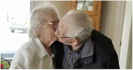Sad: Elderly couple, who have been together for 70 years, are separated during festive season