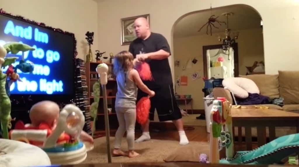 Mom puts hidden camera in living room and catches dad doing this with their children