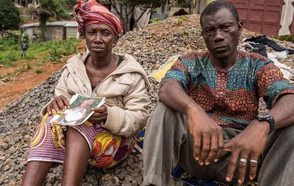 Yatta Kamara (left) lost 14 members of her family. Photo: BBC