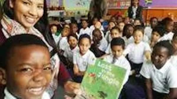 Keith, his teacher and fellow pupils. Photo: IOL News