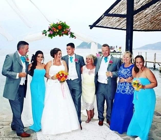 Couple's Dream Wedding Ruined After Dozens Of Guests Suffer Unstoppable Diarrhoea And Vomiting (photos)