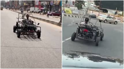 Man captured driving self-made car; says he also made a drone (Video)
