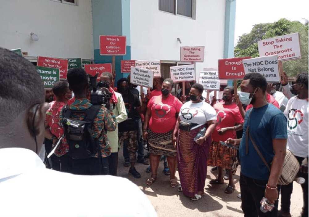 John Mahama: NDC Supporters Demonstrate Against 2020 Flagbearer