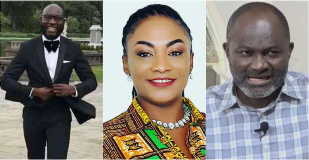 Ken Agyapong's baby momma spits fire; says MP's son Nana Takyi smokes wee like a chimney