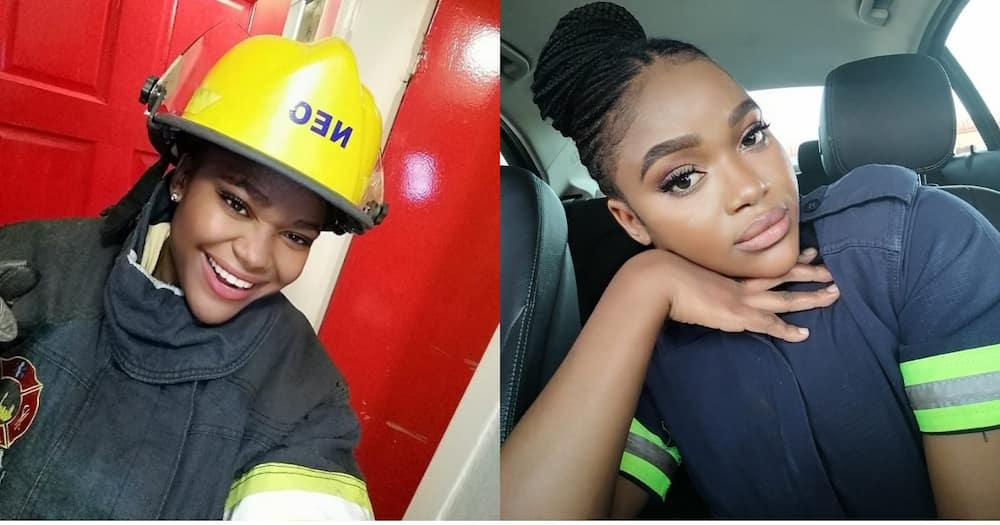 Female firefighter sets social media alight with her flawless beauty