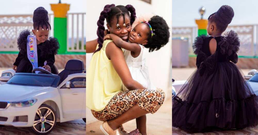 Ohemaa Woyeje's daughter Maswoyeje celebrates 2nd birthday with 10 'boss girl' photos