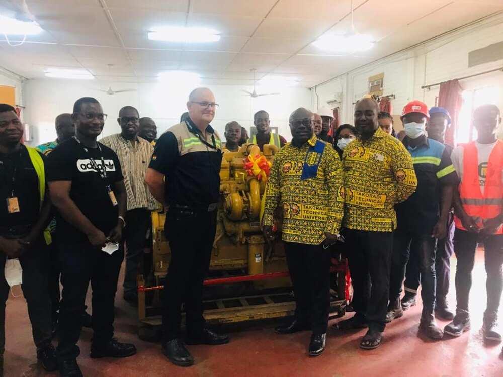 Mantrac Ghana donates Caterpillar Engine worth $20,000 to TTU Autotronic Laboratory