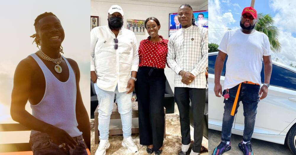 Stonebwoy and his wife visits Angel Town
