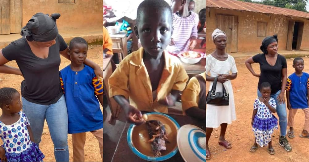 Boy Who Ate Fufu On His Our Day In Viral Photo Gets Sponsors; Set To Relocate To Canada