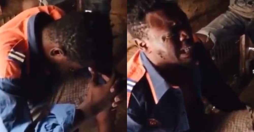 Man cries like toddler after listening to call between his girlfriend & best friend in video