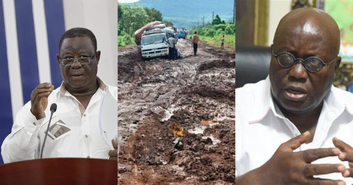 Akufo-Addo almost wept while travelling on deplorable Hamile road