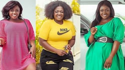 Tracey Boakye boldly steps out to vote after leaked audio saga with Mzbel over Mahama; man screams Papa No