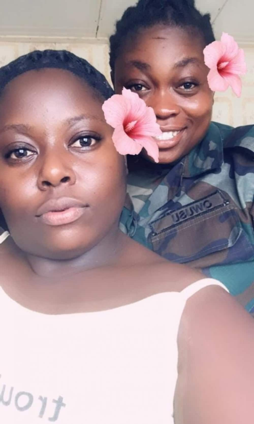 Lady in lesbian wedding video is reportedly a soldier; faces sanctions