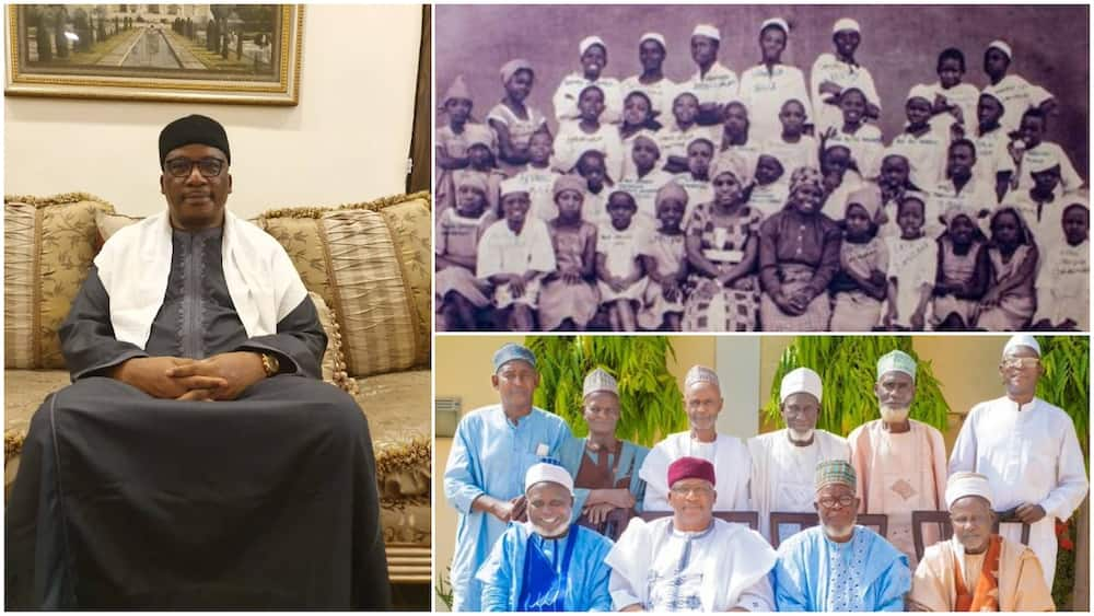 Nigerian Man Reunites with Primary Schoolmates of 60 Years ago, Shares Throwback and Present Photos