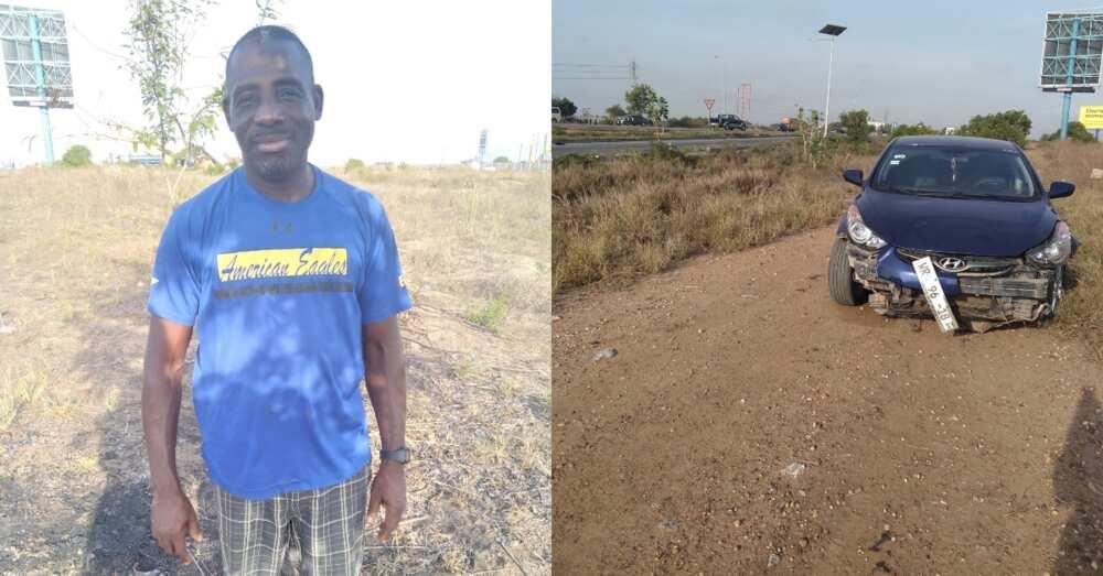 Mr Afful: Kind stranger single-handedly saves man hit & abandoned by trailer on Motorway