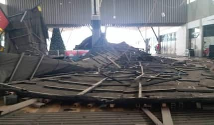Just in: After Accra Mall roof caved in, Kumasi mall's roof also caves in