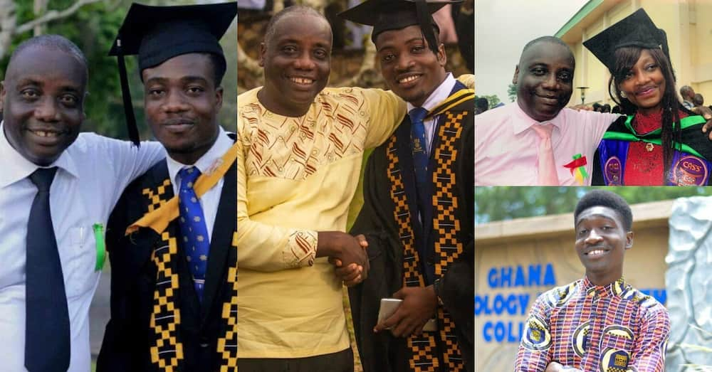 Rev. Eric N Asare: Meet Ghanaian dad who sacrificed his degree to send all 4 kids to university
