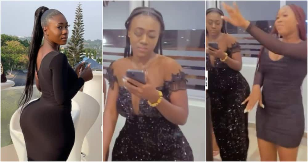 Hajia Bintu steals the spotlight at friend's b'day party as she flexes her banging coca-cola shape