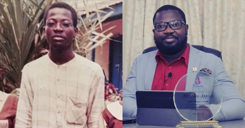The past is not the present: Former Joy FM worker shares grass to grace story with throwback photo