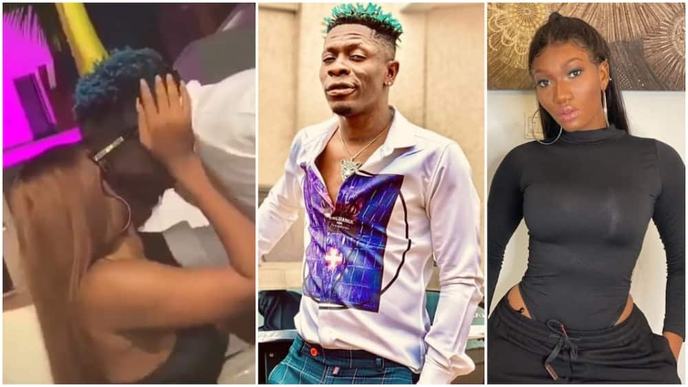 Ghanaian stars Shatta Wale and Wendy Shay share a kiss in new video