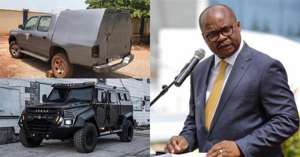 Bullet proof bullion vans and Bank of Ghana Governor