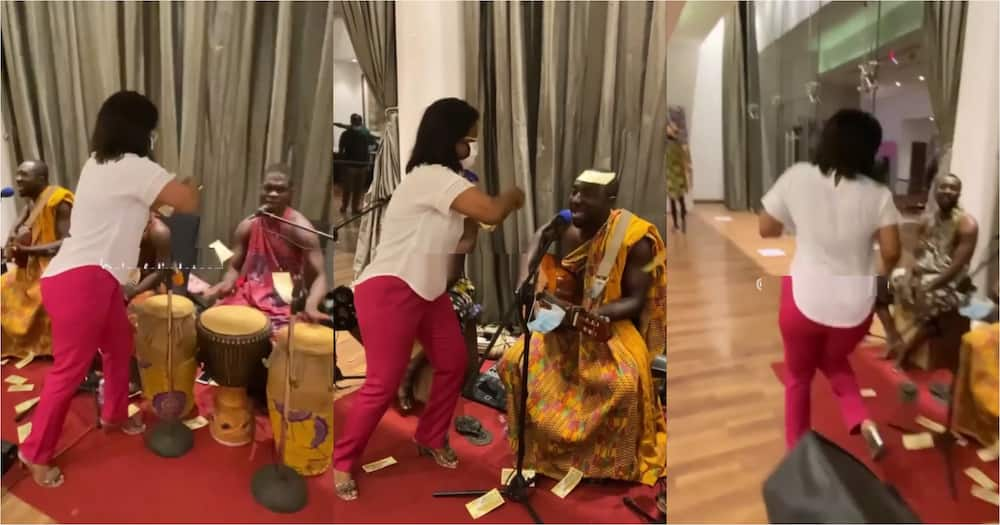 McBrown sprays money on Kwan Pa Band as they compose song for her (video)