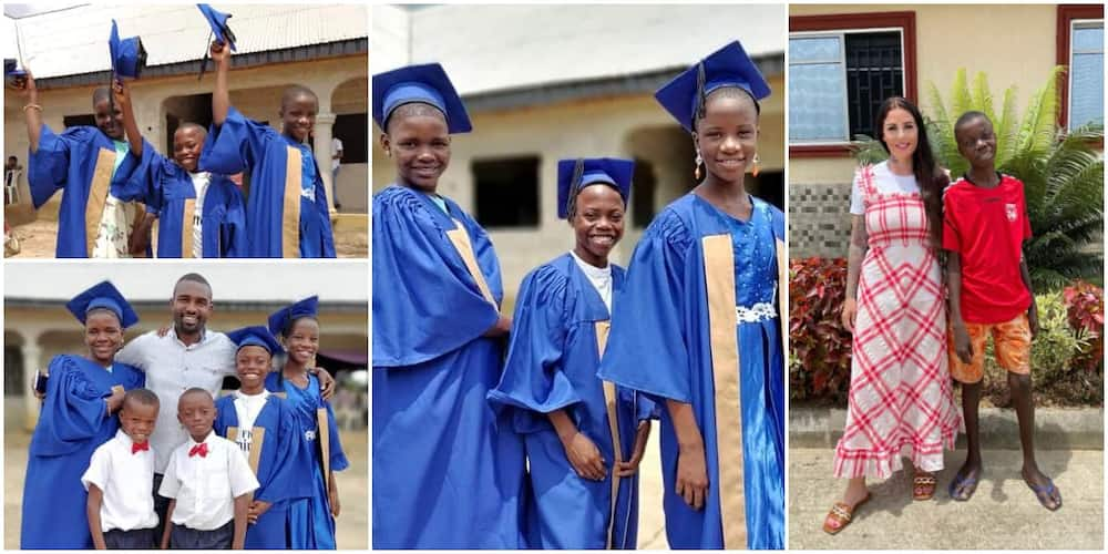 Joy as young Nigerian kids accused of being witches finish school in style after being rescued by strangers