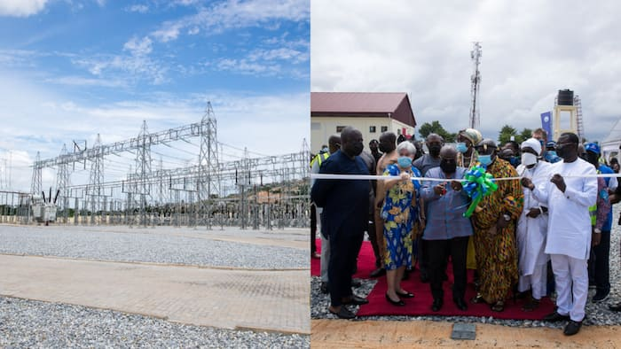 Pokuase: Akufo-Addo commissions bulk power supply point to ease 'dumsor': 350,000 people to benefit