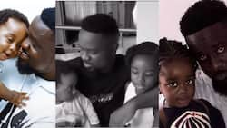 5 times Sarkodie proved he is best father and husband; skillfully feeds Titi, carries his son, in new video
