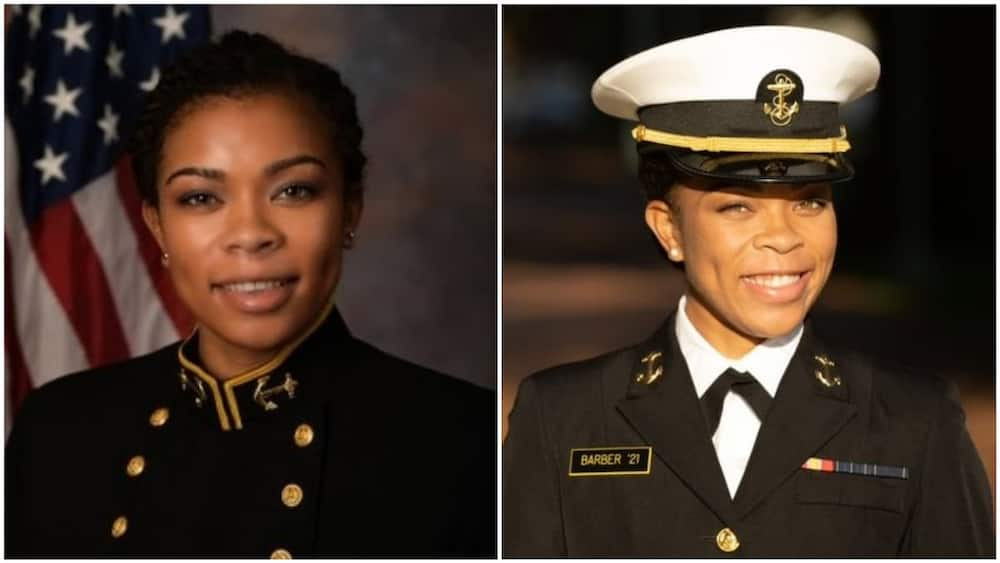 The lady said she is really happy about her new position. Photo source: Twitter/US Naval Academy