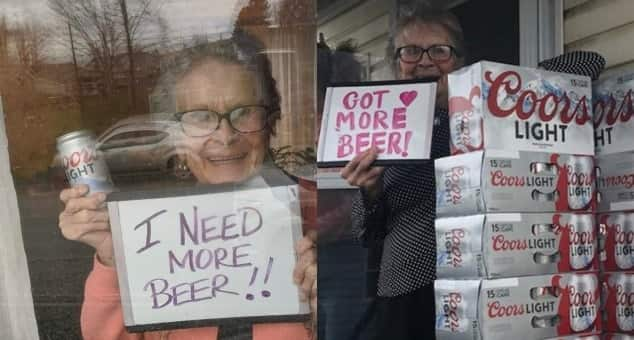 93-year-old granny who asked for beer during lockdown, gets delivered 150 cans