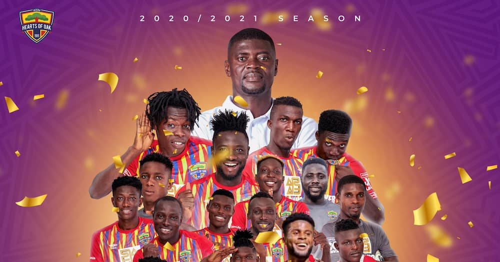 Hearts of Oak players and coach start celebrations ahead of Coronation with hot jama