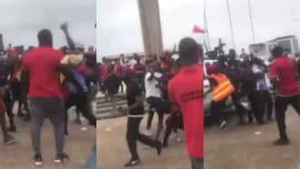 Fight apae oh: Confusion rocks #FixTheCountry demo as protestors sack media houses