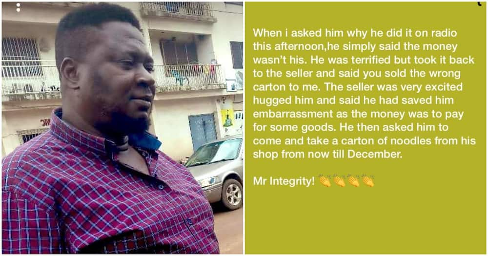 Man gets free supply of Indomie noodles for 6months after returning N1.8million he found inside a carton he bought