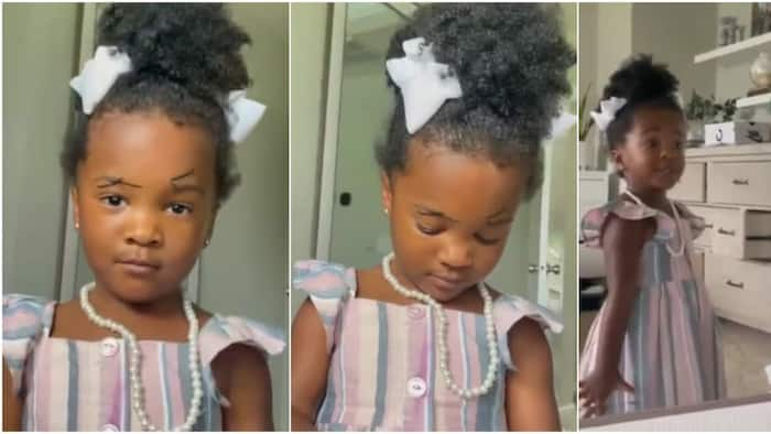 What did I did?: Little girl screams in video as she looks herself in the mirror after drawing eyebrows