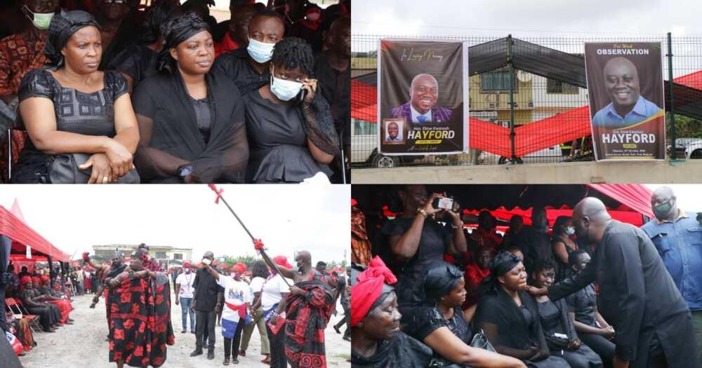 Ekow Kwansah Hayford: Late Mfantseman MP's one-week observed held; Photos and videos drop