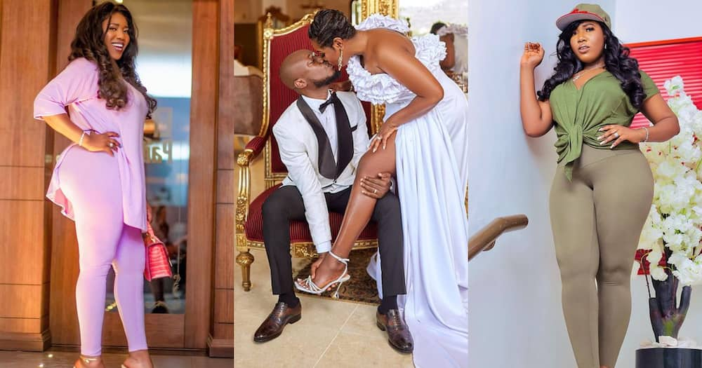 Victoria Lebene: 7 photos of Nkonkonsa's wife that show why he snubs Abena Korkor for her