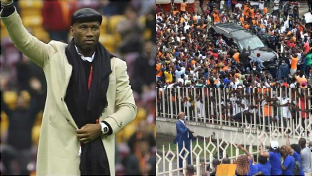 Didier Drogba mobbed by fans as he enters Ivorian FA presidential race