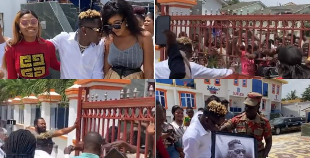 Fans mob Shatta Wale after interview at Zylofon Media