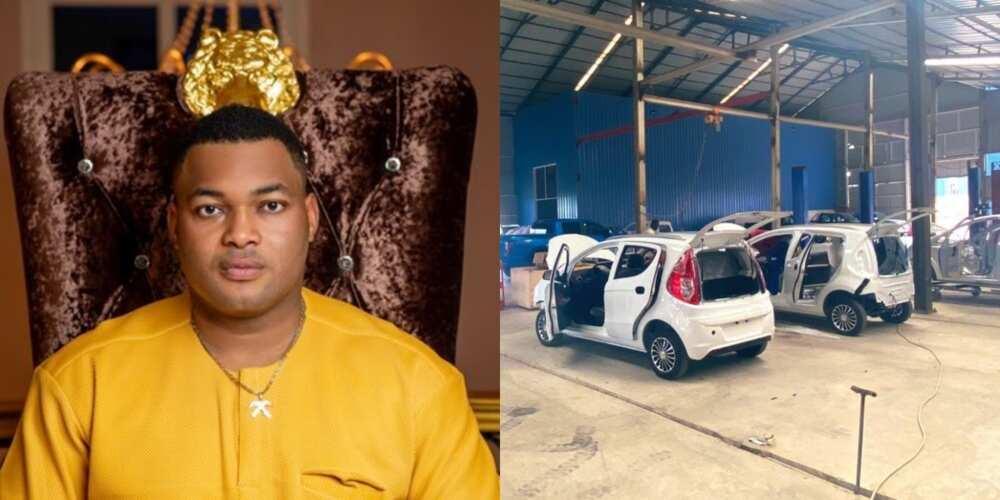 Kwadwo Safo Jnr drops video showing how new electric Kantanka Amoanimah works